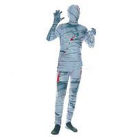 homem do traje zombi venda por atacado-New Man Adulto Invisível Homem One Piece Bloody Terrorist Traje Mummy Halloween Zombie Costume Party Fantasma Festival Cosplay Cos