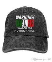 relogios multi-cores unisex venda por atacado-Pzx @ boné de beisebol para homens e mulheres, aviso italiano relógio para mover as mãos Unisex algodão ajustável Jeans Cap Hat Multi-cor opcional