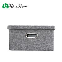Wholesale Bra Storage Boxes - Butihome Simple Style Linen Storage Box Clothing Home Debris Organizer Bra Underwear Folding Closet Organizer For Wardrobe