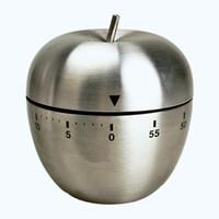 ingrosso fornitori di mele-Novità Articoli Meccanici Novità Cucina Timer da cucina Allarme 60 Minuti Utensili da cucina in acciaio inox a forma di mela