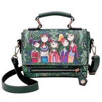 Wholesale forest green handbag resale online - Fashion Forest Girls Pattern Printing Women Shoulder bags luxury handbags women bags designer Hasp Ladies Messenger
