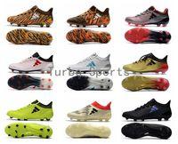 homens futsal venda por atacado-2018 Barato X 17.1 FG / AG Chuteiras de futebol para Homens Sapatos de Futebol Autêntico Messi Ao Ar Livre TPU Botas de futsal turf Frete grátis Por Atacado
