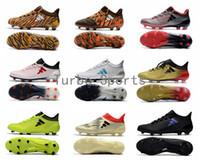 zapatos de exterior messi al por mayor-2018 Barato X 17.1 FG / AG Tacos de fútbol para hombres Zapatos de fútbol Auténtico Messi Outdoor TPU Boots césped futsal Envío libre al por mayor