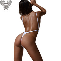 Wholesale High Leotard - Wholesale-Thong One Piece Swimwear Swimsuit 2017 Sexy Thong Bodysuit Leotard One-Piece Swimsuits Women High Cut Swimming Suit Beachwear