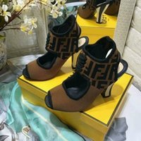Wholesale chain lace up sandals - WOMEN LOGO HIGH HEEL PEEP TOE PUMP SANDAL SHOES Women Pumps Loafers Ballerina Flats Espadrilles Wedges Sneakers Boots Booties