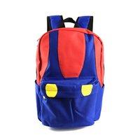 mochilas escolares mario al por mayor-Mochila Super Mario Mros de Super Mario Bros Color Mushroon Design School para los fanáticos