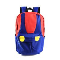 ingrosso i più nuovi sacchetti di spalla gialli-Spedizione gratuita Super Mario Backpack Super Mario Bros Colore Mushroon Design School Bag per i fan