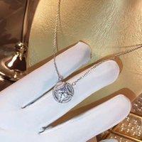 ingrosso collana di gioielli-S925 argento puro Cristallo austriaco di qualità eccellente Diamanti Amore pendente rotondo cavo Collana di dichiarazione Fashion Class Women Girls Lady Jew