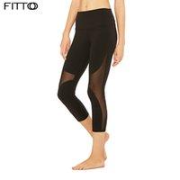 leggings de entrenamiento negros al por mayor-Mujeres Malla Yoga Leggins Deporte Fitness Negro Transparente Cómodo Pantalones Sexy Leggings Entrenamiento Leggins Para Mujeres Yoga Activewear