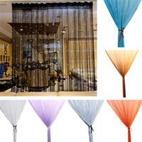 püsküllü püsküller toptan satış-Boncuklu Perde Dize Kapı Pencere Odası Paneli Glitter Kristal Top Püskül Dize Hattı Kapı Pencere Perde Oturma Odası Bölücü Dekoratif