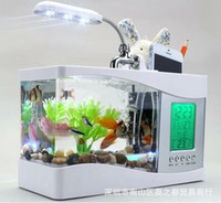 Wholesale electronic fish alarms resale online - Usb Electronics Fish Alarm Originality Home Articles Function Fish Tank LED Lamp