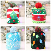 da4ad9addf3 Wholesale new fitted hats online - 4 Styles LED Light Knitted Christmas Hat  Unisex Adults Kids