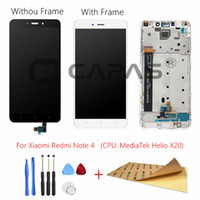 pantalla táctil digitalizador para xiaomi al por mayor-Para Xiaomi Redmi Note 4 MediaTek LCD Display Frame Panel táctil completo Redmi note4 Note 4 MTK LCD Digitalizador Repuestos