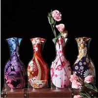 blumenartikel großhandel-8 stile umweltfreundliche faltbare falten blume klar pvc vase hause hochzeitsfest kreative haushalt neuheit artikel hause