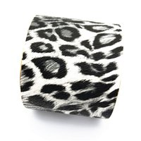 Wholesale leather bracelets for sale - 2018 New Imitation leather Cuff Leopard print Bracelets Wide mouth fashion South American style bangle for women Jewelry factory