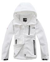 kabuk ceket kadınlar toptan satış-2019 Marka kadın sıcak satış yün yumuşak kabukları Kuzey ceketler spor su geçirmez Rüzgar Geçirmez ceket nefes yüz açık ceket Ücretsiz Kargo