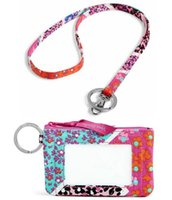 Wholesale floral pattern fabric - New Pattern Zip ID Case with Lanyard