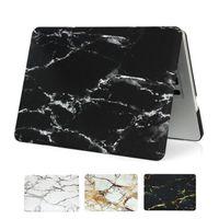 funda de plástico para laptop al por mayor-Para Macbook Air Pro 13 15 Touch Bar 2016 2017 carcasa de plástico dura de Shell de Shell de mármol