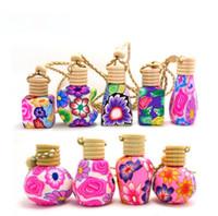 nouvelles bouteilles de parfum vides achat en gros de-New Arrive Car hang décoration Céramique essence huile Bouteille de parfum Accrocher la corde bouteille vide livraison gratuite SN1458