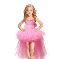 meninas vestido longo suspender venda por atacado-Baby girl Tutu vestido longo net gaze Princesa ballgown para crianças crianças do dia das bruxas natal partido do baile de finalistas vestido de dança suspender saias