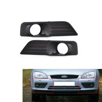 Wholesale Ford Front Bumpers - Car Front Lower Bumper Fog Light Cover Vent Grille Side Insert Center Grilles for Ford Focus 2005 2006 2007 Free Shipping