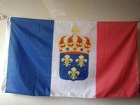 Wholesale France Flag Polyester - France Kingdom Flag French Royal Standard Ensign Polyester 90 x 150 cm