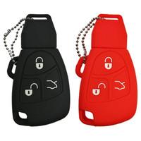 télécommande pour mercedes achat en gros de-Silicone Smart Key FOB Housse Pour Mercedes Benz Classe A C E S ML CLK SLK Ancienne fob accessoires à distance, etc.