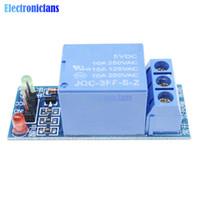 ingrosso batteria del misuratore elettrico-2PCS One 1 Channel Relay Module 5 V interfaccia di trigger di basso livello Board Shield DC AC 220 V Per Arduino PIC AVR DSP ARM MCU