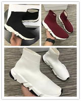 Wholesale booties shoes for men - Luxury Brand top quality High-Top Casual Sock shoes leather leisure Training Sneakers Sock Booties Sports Running Shoes for women men 35-45