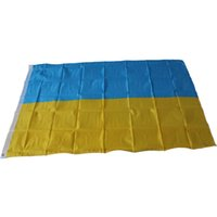 ukraine flagge groihandel-90 x 150 cm Ukraine Flagge Große Banner - 3FT X 5FT Hängen Ukraine Nationalflaggen Aktivität Festival Home Outdood Yard Decor