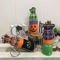vestidos de ambiente al por mayor-Decoración de Halloween botella de vino conjunto creativo bruja calabaza vino tinto champán botella bolsa bar atmósfera vestir hasta