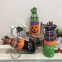 vestidos de atmosfera venda por atacado-Garrafa de vinho de decoração de Halloween conjunto criativo bruxa abóbora vinho tinto garrafa de champanhe saco bar atmosfera vestir-se