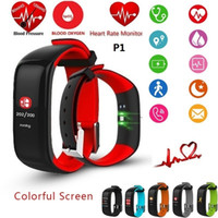Wholesale Pressure Touch - Fitness Tracker Watch Fitbit Band Color Display P1 PLUS Colorful Touch Screen with Heart Rate Monitor Blood Pressure Sleep IP67 Waterproof