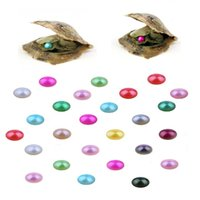 6-7MM Beautiful Natural Akoya Saltwater Round Colorful Nice Oyster Pearls Vacuum Packaging wholesale farm supply free shipping high quality