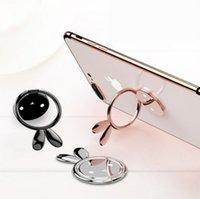 подставка для поворота телефона оптовых-Кролик форма 360 градусов повернуть держатель палец мобильного телефона кольцо стенд держатель для iPhone X 8 Samsung S9 Xiaomi Магнитный с розничной упаковке