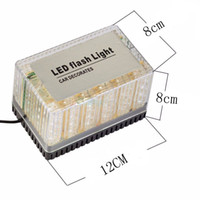 luz de advertencia del techo del coche al por mayor-48 LED Car Truck Roof Top de emergencia Luz de advertencia de peligro 12V Strobe Flash Lamp con base magnética