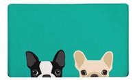 ko großhandel-Badematte Hund Bedruckte Matte 50x80 cm Wc Teppich Saugfähigen Dusche Badezimmer Outdoor Teppiche Fußmatte Küche Boden Großhandel