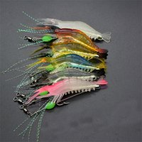 Wholesale sabiki bait rigs for sale - Shrimp Soft Lure cm g Fishing Artificial Bait With Glow Hook Swivels Anzois Para Pesca Sabiki Rigs Angle Lure Fishhook zz Z