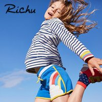 Wholesale Natural Fabric Clothing Wholesale - Richu gymnastics shorts for baby summer beach shorts mini bottom clothes for girl pants cotton fabric Made In China wholesale green shorts