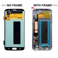 Wholesale super lcd - ORIGINAL 5.5'' SUPER AMOLED Display For SAMSUNG Galaxy s7 edge G935 G935F SM-G935F LCD Digitizer Assembly Replacement + Frame