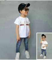 Wholesale baby toddlers clothing for sale - hot Children T shirt for Boys Clothing Baby Boys Girls Summer Tops Tee Cotton Kids clothes toddler playsuit COCO
