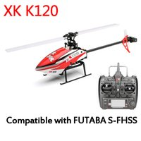 Wholesale 6ch helicopters for sale - Group buy Original XK K120 Shuttle CH Brushless Motor D6G System RC Helicopter RTF GHz Compatible with FUTABA S FHSS