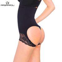 trajes de traje mágico al por mayor-Mujeres atractivas cintura trainer control bragas partido de las mujeres negro levantador de tope cuerpo modelado cinturón shaper control de la barriga tirando de la ropa interior