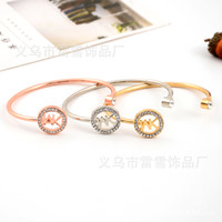 Wholesale united links - Europe and the United States 2018 new rose red silver hot high-end bracelet MK letter opening exquisite bracelet jewelry ll