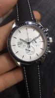 Wholesale Apollo Stainless Steel - 2017 Moonwatch Master Chronometer Co-axial Sport Men's Watches 44MM Quartz Watch APOLLO Astronauts Wristwatches Top Brand On A Nylon Strap