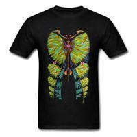 diseño de imágenes tops al por mayor-Art Design T-Shirts Fibonacci Butterfly Illustration Imagen Verano / Otoño 100% Cotton Men Tops más económicas T-shirt en oferta