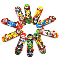 Wholesale toys for children trucks for sale - Print professional Alloy Stand FingerBoard Skateboard Mini Finger boards Skate truck Finger Skateboard for Kid Toy Children Gift