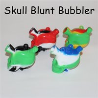 Wholesale martian glass bubbler resale online - New Arrival Martian Glass Silicone Blunt Bubbler Mini Bongs Water Pipes Small Pipes silicone Smoking Bubbler