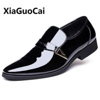 Wholesale Day White 38 - New Spring Autumn Man Dress Shoes Leather Breathable Pointed Toe Slip on Business Wedding Plus Size 38-48 Oxford Formal Shoes