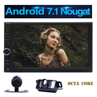Wholesale Mp3 External - Wireless Reverse Camera+Android 7.1 Octa core Car Stereo System HD 1024*600 Touchscreen 3D GPS Navigation 7'' Radio Bluetooth External Micro